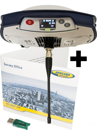 Spectra Precision SP80 GSM/GPRS + Radio 430-470 МГц + Survey Office Intermediate фото